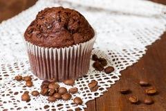 Chocolate do queque com café Fotografia de Stock