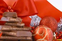 Chocolate do Xmas imagem de stock