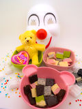 Chocolate and doll decorate theme romance and nice Stock Images