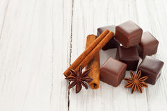 Chocolate dominos Royalty Free Stock Photography