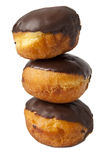 Chocolate donut. On a white background Stock Image