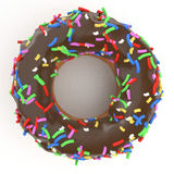 chocolate donut Royalty Free Stock Images