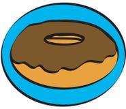 Chocolate donut Stock Photography