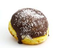 Chocolate donut. Isolated on white background Stock Image