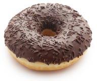 Chocolate donut. Isolated over white background Stock Photo