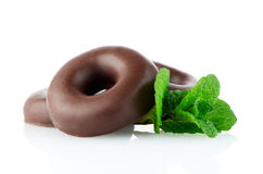 Chocolate donut cookies Royalty Free Stock Image