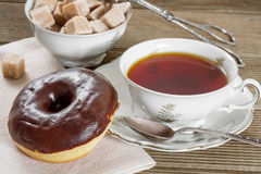 Chocolate donut Royalty Free Stock Photos