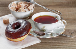 Chocolate donut Stock Image