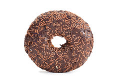 Chocolate donut isolated Stock Image