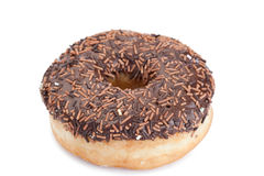 Chocolate donut isolated Stock Photos