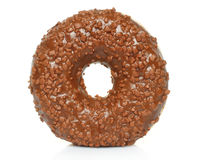 Chocolate donut with sprinkles isolated Royalty Free Stock Photos