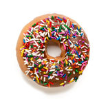Chocolate Donut with Sprinkles. On White Royalty Free Stock Photography