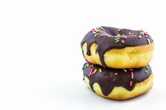 Chocolate donut with Sprinkles. Stock Photography
