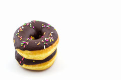 Chocolate donut with Sprinkles . Royalty Free Stock Photo