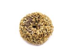 Chocolate donut on white background Stock Photos