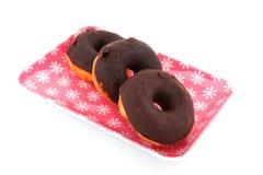 Chocolate donuts Stock Photo