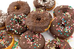 Chocolate donuts Stock Photos