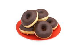 Chocolate donuts. Royalty Free Stock Photos
