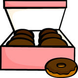 chocolate donuts box vector illustration Stock Images
