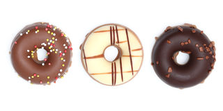 Chocolate donuts Stock Images