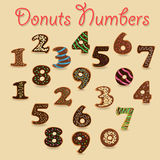 Chocolate Donuts Numbers stock photo