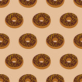 Chocolate Donuts seamless pattern. Desserts food. Sweets  Royalty Free Stock Photography