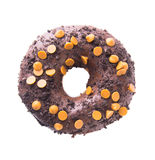 Chocolate donuts on a white background Royalty Free Stock Photos