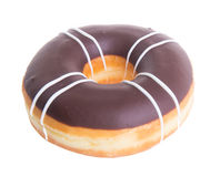 Chocolate donuts on a white background Royalty Free Stock Images
