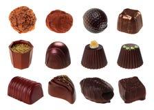 Chocolate dos doces fotografia de stock