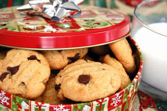 Chocolate dotado Chip Cookies foto de archivo