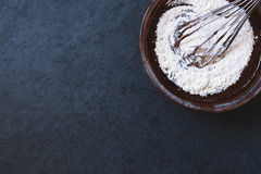 Chocolate dough with corolla Royalty Free Stock Photo