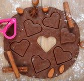 Chocolate dough Stock Photos