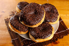 Chocolate doughnut Royalty Free Stock Photo