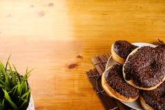 Chocolate doughnut Royalty Free Stock Photos