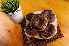Chocolate doughnut Royalty Free Stock Images