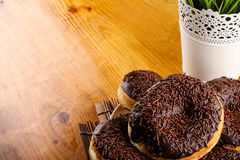 Chocolate doughnut Stock Image