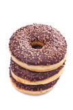 Chocolate doughnuts Stock Photo