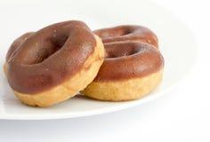 Chocolate doughnuts Royalty Free Stock Photo