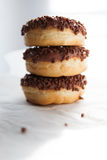 Chocolate doughnuts Royalty Free Stock Images