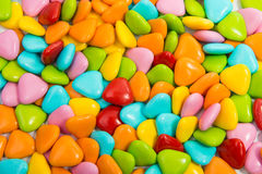 Chocolate dragees in colorful glaze isolated Royalty Free Stock Photography