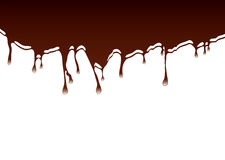 Chocolate dribble background Stock Photography