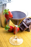 Chocolate Drink. A chocolate drink with fresh strawberries Stock Photo