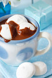 Chocolate drink with marshmallow. Royalty Free Stock Photos