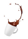 Chocolate drink splash Royalty Free Stock Photography