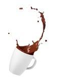 Chocolate drink splash royalty free stock photography