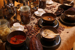 Chocolate drink station Royalty Free Stock Photo