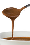 Chocolate dripping Stock Photo