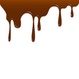 Chocolate dripping, Chocolate background  Royalty Free Stock Photo