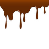Chocolate dripping, Chocolate background vector Stock Photos