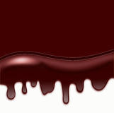 Chocolate Dripping, Wave from Liquid  Chocolate, area for text Royalty Free Stock Photos